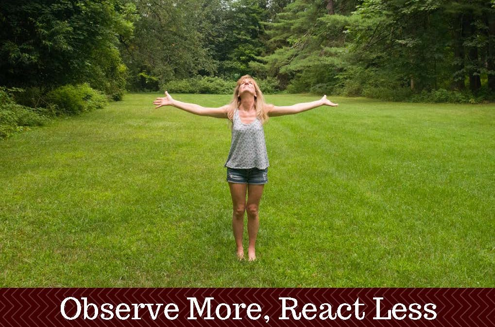Observe More React Less